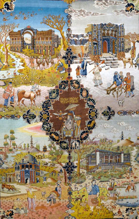 beautiful example oriental rug tapestry from Islamic world of rugs