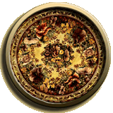 Round Traditional Pattern Rug