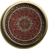 Round Persian Rug in Dover
